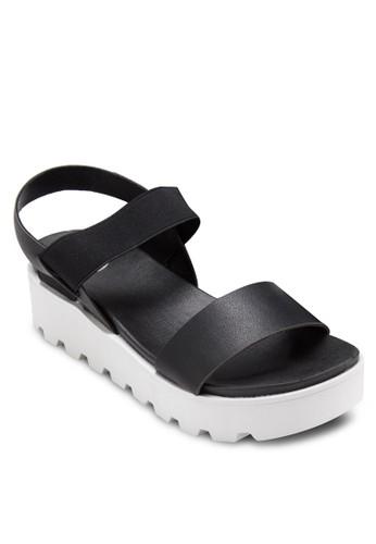 交叉踝esprit holdings帶厚底涼鞋, 女鞋, 鞋