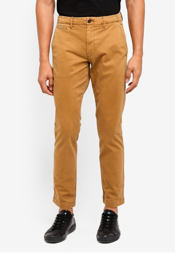 GAP brown Vintage Wash Khaki Pants 6E8B5AAE6D28EAGS_1