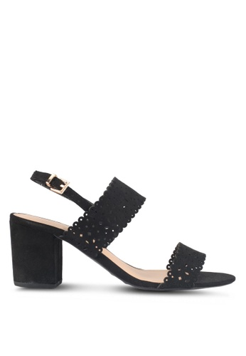 Dorothy Perkins black Black 'Sugar' Lazercut Sandals A5CFDSHFEEBCC4GS_1