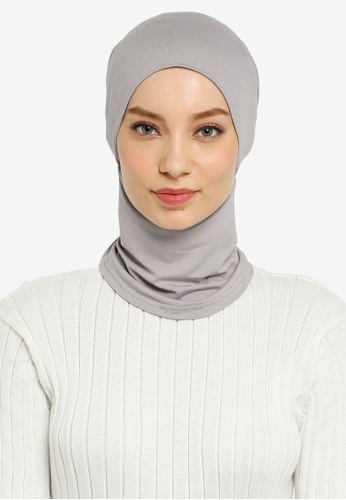 Hijabii grey Cady Inner Neck Tie in Light Grey 231DBAAA6897E5GS_1