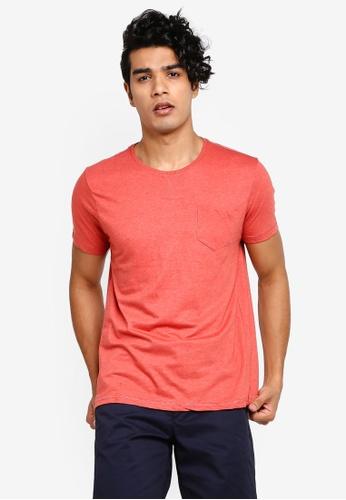 Brave Soul 橘色 口袋T恤 F9E66AAFAE0B14GS_1