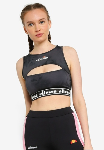 Ellesse black Fenzo Cropped Vest - Ellesse Heritage F2E6BAA6D08D71GS_1