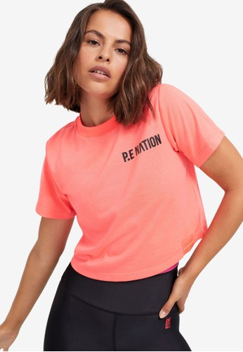 P.E Nation pink Box Out Tee 1DE13AA122761BGS_1