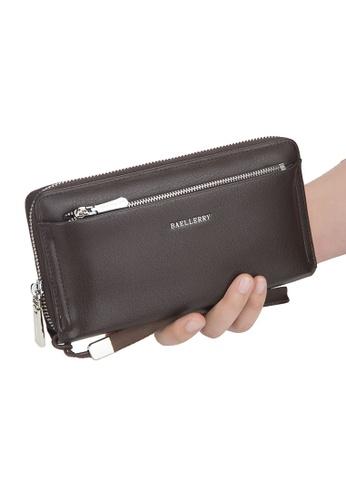 Baellerry brown Long Wallet Phone Bag Zipper Pocket Clutch Bag DC8F5AC312651BGS_1