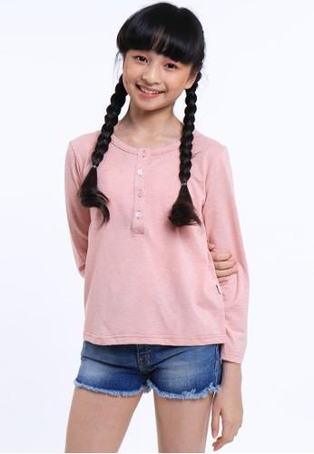 EXIT GIRL pink Rhienny Pink T-shirt 52C73KA34E72D4GS_1