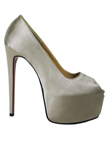 Jacque beige Party Dark Champagne Heel Peep Toe JA262SH83NFCMY_1