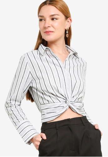 ZALORA WORK multi Twist Detail Long Sleeves Shirt 71D09AA82AACB2GS_1