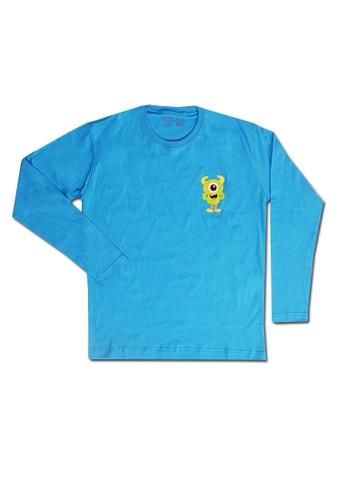 Pop Kidswear blue Pop Kidswear Monster Squad Blue Adult (Long Sleeves) Tee - kaos monster series 4C111AAF11CB45GS_1