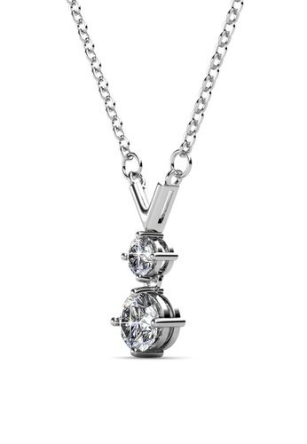 Her Jewellery silver Valarie Pendant -  Made with premium grade crystals from Austria HE210AC0GLSTSG_1