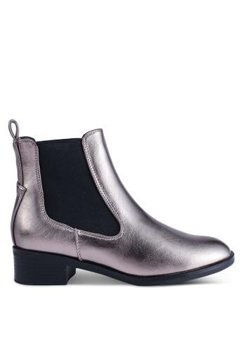 ONLY 銀色 金屬感靴子 7A3B5SH5570F28GS_1