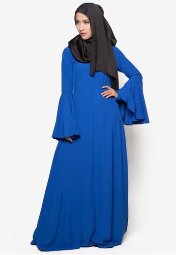 Amar Amran blue Jubah Rania AM362AA17BUCMY_1