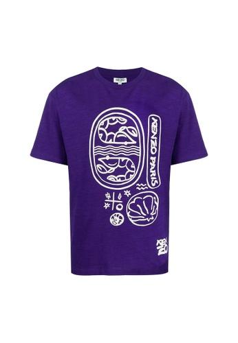 Kenzo purple Kenzo Slubbed T-Shirt in Purple 2ED08AA029F5E2GS_1