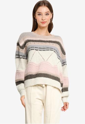 Vero Moda beige Boho Pattern Sweater 5219DAA3EDE433GS_1