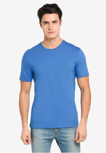 Topman blue Bright Blue Slim Crew TO413AA0T1NKMY_1