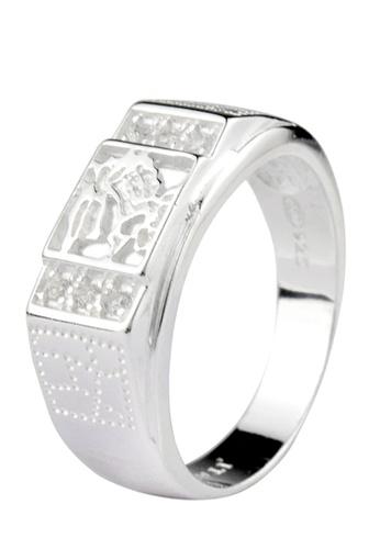 SC Tom Silver silver Men's Stone Ring SC872AC16ZAPPH_1