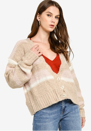 Free People beige Fine Time Cardigan 52E8AAAA2F90CAGS_1