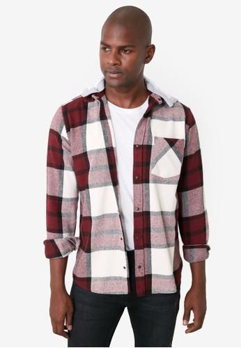 Trendyol red Hooded Plaid Lumberjack Shirt 716A2AA245C6C6GS_1
