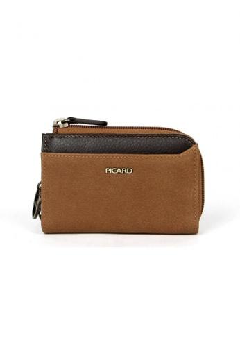 Picard brown Munich Zip Around Wallet PI517AC83CGYSG_1