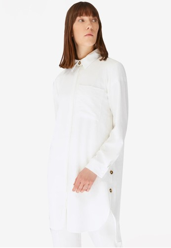 Trendyol white Button Tunic 65008AA0AF50F9GS_1