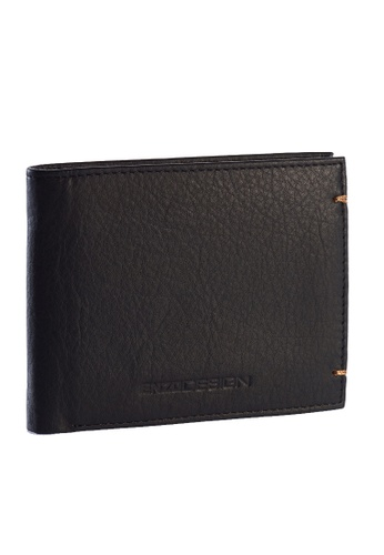 ENZODESIGN black Ultra Soft Cow Nappa Leather Slim Wallet EN115AC74ZTLPH_1