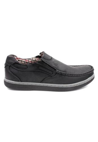 midzone black Comfortable Leather Slip On MI949SH46ZHDMY_1