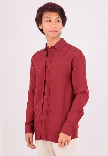 East India Company red Anil Long Sleeve Shirt CC5B2AADE8370DGS_1