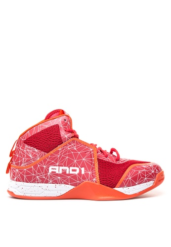 And1 red Havok Basketball Shoes AN510SH97SSGPH_1