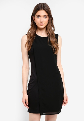 Something Borrowed black Asymmetrical Layer Dress AA859AA34015C1GS_1
