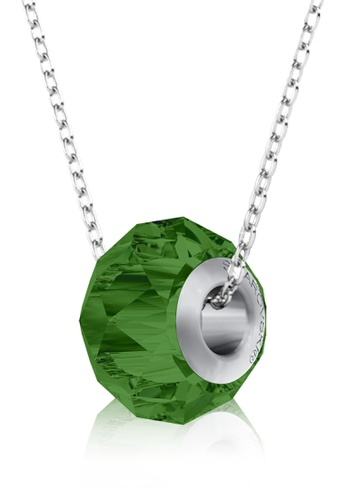 Her Jewellery green BeCharmed Briolette Bead Pendant (Fern Green) - Made with premium grade crystals from Austria B8DC7ACED727B8GS_1
