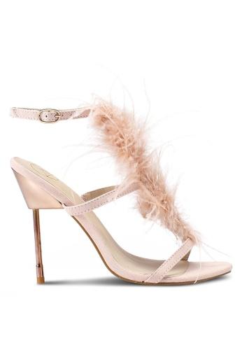 MISSGUIDED 米褐色 素色金屬感高跟鞋 6D532SH2B48F9BGS_1