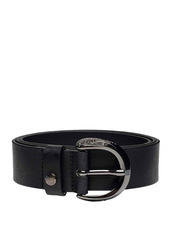REPLAY black REPLAY BELT IN SOLID-COLOURED BRUSHED LEATHER E8D57AC4C21B0BGS_1