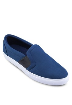 Canvas Slip Ons With Side Elastic Bands