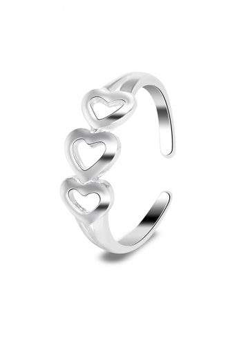 SC Tom Silver silver Heart Toe Ring SC872AC0JO22PH_1