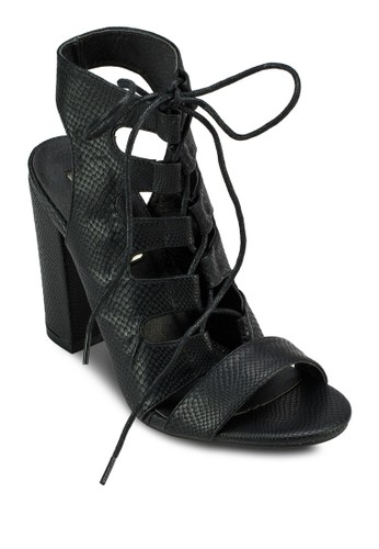 Perla 多帶鏤空粗zalora時尚購物網評價跟涼鞋, 女鞋, 鞋
