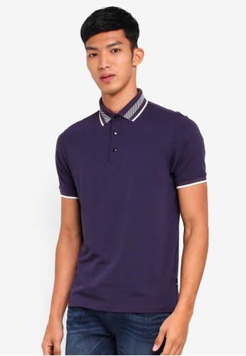 Burton Menswear London purple Purple Popper Polo Shirt 3BE72AA4021D8AGS_1