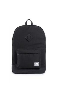 479ae96f41 Herschel black Heritage Backpack 208DEAC6445F36GS 1
