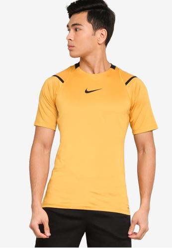 Nike brown Pro AeroAdapt Short Sleeve Top B54E4AA1888890GS_1
