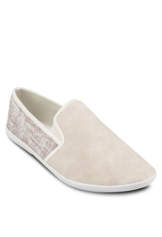 Mix Material Slip On