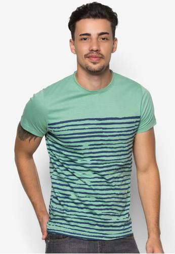 Quincy 條紋T esprit taiwan恤, 服飾, 條紋T恤