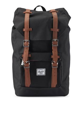 Herschel black Little America Mid-Volume Backpack 20FD8ACC5749BFGS_1