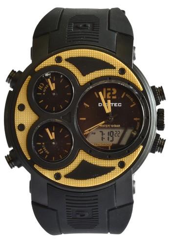 Digitec gold Digitec - Jam Tangan Pria 4 Time - Black - Rubber Strap - DG3027TBGD DI108AC11TMMID_1