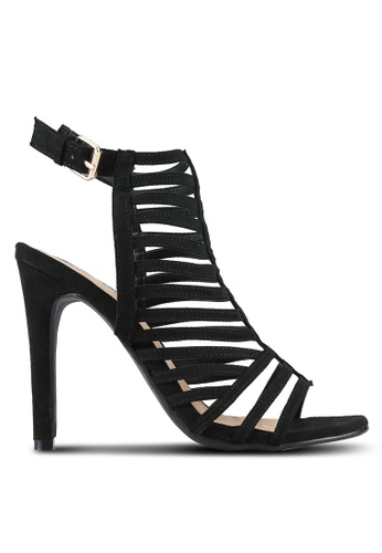 Something Borrowed black Strappy Cut Out Heels 4B844SHE94893EGS_1