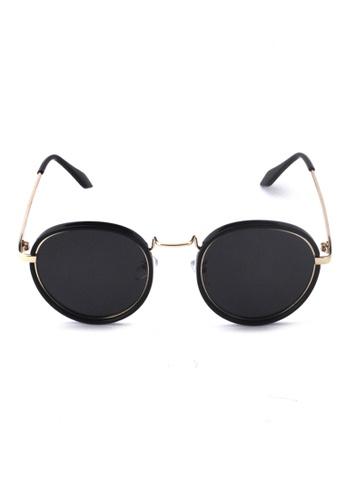 2i's to eyes black Sunglasses Polarized│Vintage Round Black Frame│UV400 Protection│2is PittD 737E6GL330446CGS_1
