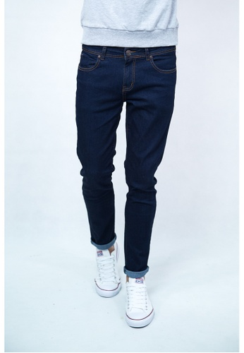 Drum blue Classic Slim Fit Jeans DR425AA09DRAMY_1