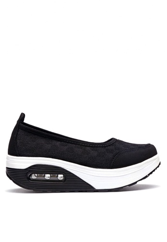 Twenty Eight Shoes 黑色 網布密頭搖搖鞋 VC2963 3B19FSH646ACC1GS_1
