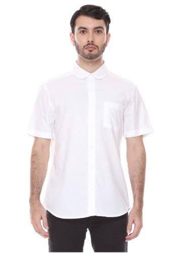 Dyllon white Dyllon Short Sleeve Plain Shirt FF8C2AAE405C61GS_1