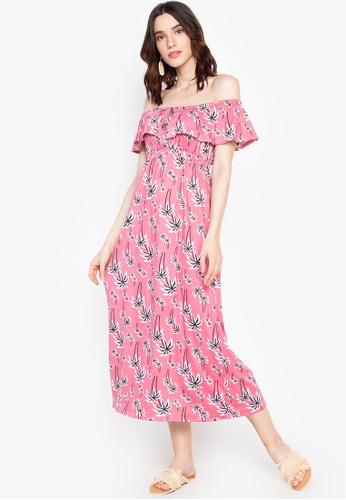 b1cd3d3998a0 Shop Deity Off Shoulder Maxi Dress Online on ZALORA Philippines
