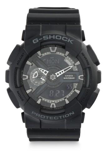 G-Shock black Casio G-SHOCK Jam Tangan Pria - Black - Silicon - GA-110-1BDR CA347AC10QAVID_1
