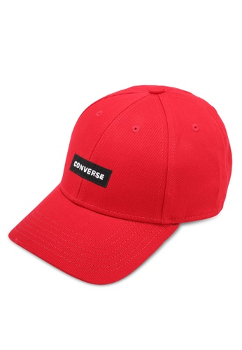 Converse red One Word One Court Baseball Cap CO302AC0SW5UMY_1