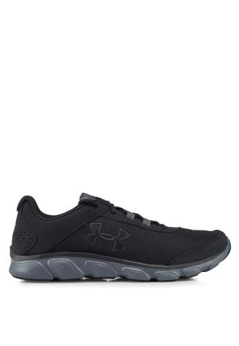 Under Armour black UA Micro G® Assert 7 Running Shoes 762DBSH2533B0DGS_1